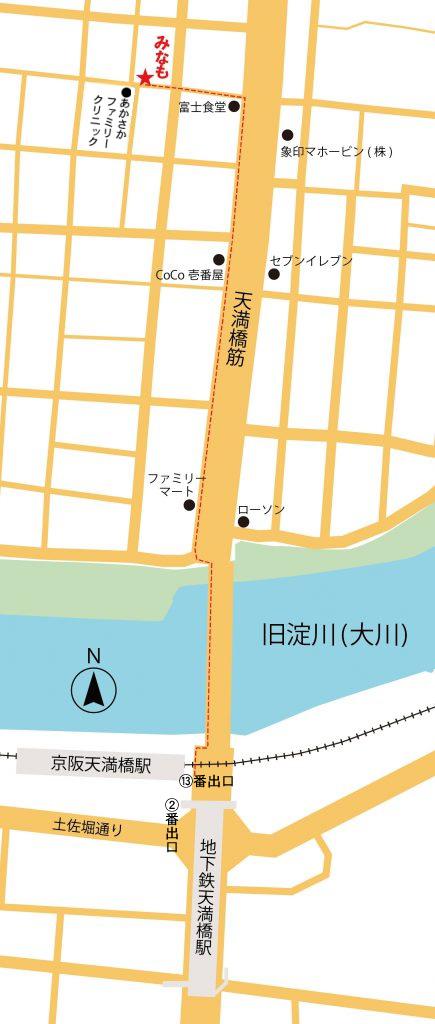 地図・天満橋から